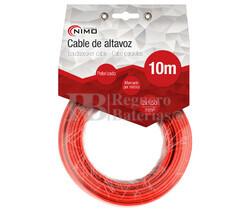 Cable para altavoz 2x1.5mm, Rojo-Negro 10m