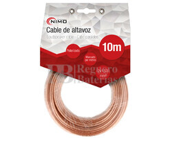 Cable para altavoz 2x1.5mm, Transparente 10m