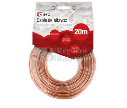 Cable para altavoz 2x1.5mm, Transparente 20m