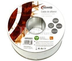 Cable para altavoz 2x2.5mm, Blanco polarizado 100m