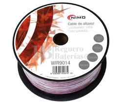 Cable para altavoz 2x2.5mm, Rojo-Negro 100m