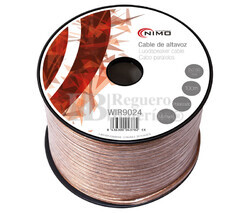 Cable para altavoz 2x2.5mm, Transparente polarizado 100m