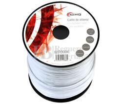 Cable para altavoz 2x4.0mm, Blanco polarizado 100m