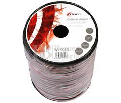 Cable para altavoz 2x4.0mm, Rojo-Negro 100m