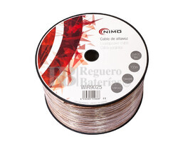 Cable para altavoz 2x4.0mm, Transparente polarizado 100m