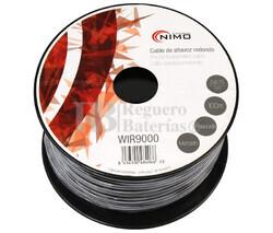 Cable para altavoz redondo 2x0.75mm, Negro 100m
