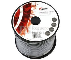 Cable para altavoz redondo, Negro 100m