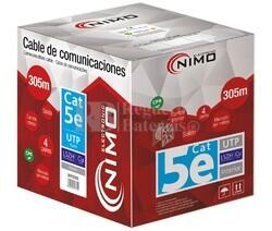 Cable para datos UTP Cat.5e COBRE,rígido interior LSZH,305M