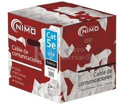 Cable para datos UTP Cat.5e rígido exterior, 305m