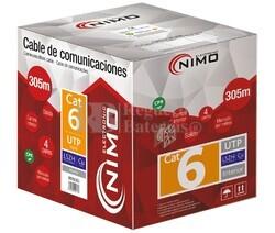 Cable para datos UTP Cat.6 COBRE,rígido interior LSZH,305M