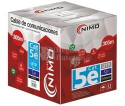 Cable para datos UTP Cat5e COBRE, rígido exterior, 305M