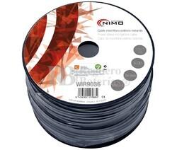 Cable para micrófono estéreo, Negro 100m