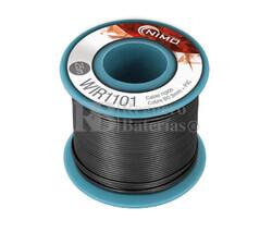 Cable rígido 0,5mm, cobre estañado, Negro 25m