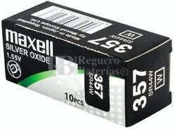 Caja 10 Pilas de Litio Maxell SR44W - 357