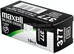Caja 10 Pilas de Litio Maxell SR626SW - 377