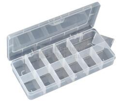 Caja clasificadora con 12 departamentos ajustables