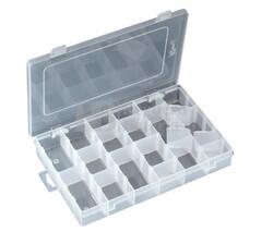 Caja clasificadora con 16 departamentos ajustables