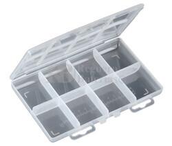 Caja clasificadora con 8 departamentos