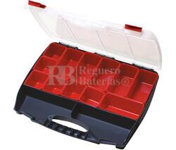 Caja clasificadora con asa y 12 cubetas intercambiables