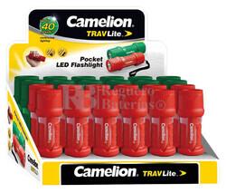 Caja convertible en expositor 24 linternas LED de bolsillo