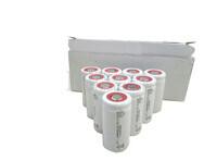 Caja de 10 Baterías SubC 1.2 Voltios 1,5 Amperios sin lengüetas
