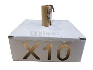 Caja de 10 Baterías SubC 1.2 Voltios 1,9 Amperios con lengüetas