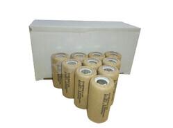 Caja de 10 Baterías SubC 1.2 Voltios 1,9 Amperios sin lengüetas