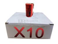 Caja de 10 Baterías SubC 1.2 Voltios 3,8 Amperios con lengüetas