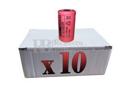 Caja de 10 Baterías SubC 1.2 Voltios 2.100 mah sin lengüetas