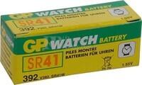 Caja de 10 pilas GP 392 oxido de plata SR41W (7.90 d. x 3.60 alt.) 1.5 v. 42 mAh.