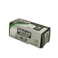 Caja de 10 pilas reloj Maxell 371 SR0920SW oxido de plata ( 9.50 d. x 2.10 alt. ) 1.5 v. 33 mAh.