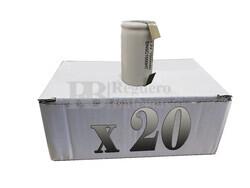Caja de 20 Baterías Recargables SubC 1.2 Voltios 1.500 mah C/ lengüetas