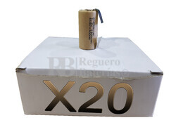 Caja 20 Baterías SubC 1.2 Voltios 1.900 mah C/ Lengüetas