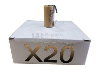 Caja 20 Baterías SubC 1.2 Voltios 1.900 mah C- Lengüetas
