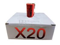 Caja de 20 Baterías Recargables SubC 1.2 Voltios 3.800 mah con lengüetas