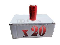 Caja 20 Baterías SubC 1.2 Voltios 3.800 mah sin lengüetas