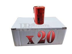Caja 20 Baterías SubC 1.2 Voltios 2.100 mah con lengüetas