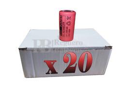 Caja 20 Baterías SubC 1.2 Voltios 2.100 mah sin lengüetas