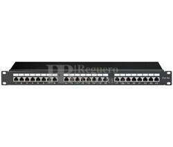 Caja de conexión RJ45 Cat.5e 24 puertos, negro