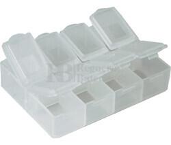 Caja para componentes SMD, 8 departamentos