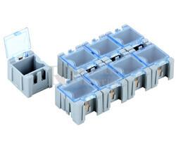 10 cajas para componentes SMD