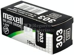 Caja 10 Pilas de Litio Maxell SR44SW - 303