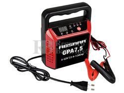 Cargador Automatico de Baterías ABSAAR para 6V y 12 Voltios 2,4 y 7,5 Amperios para GEL, AGM y Plomo Acido