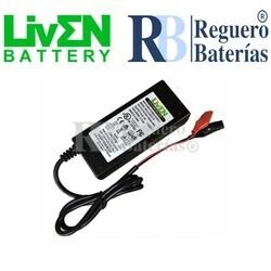 Cargador baterías 12 Voltios 2 Amperios Litio LifePO4