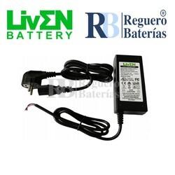 Cargador baterías 12 Voltios 4 Amperios Litio LifePO4