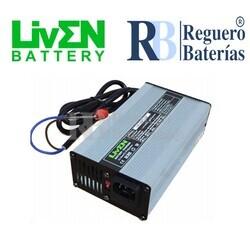 Cargador baterías 12 Voltios 6 Amperios Litio LifePO4