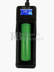Cargador baterías 18650 + 1 Batería 18650 de Regalo