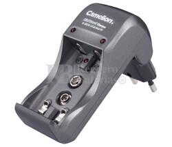 Cargador baterías automático AA, AAA, 9 Voltios