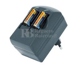 Cargador baterías CR2 con 2 baterías