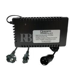 Cargador baterías movilidad 24 Voltios 3 Amperios XLR